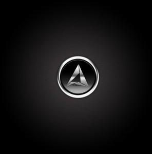 Хромированная металлическая кнопка. Графический дизайн.