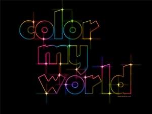 Цветной текстовый эффект в фотошопе.