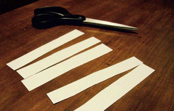 Как сделать из бумаги полоски 757