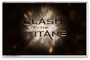 "Текст в стиле фильма ""Битва Титанов"". Рисуем постер в фотошопе."