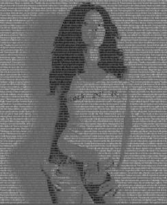 Фотография из текста. Фотоэффект в фотошопе.