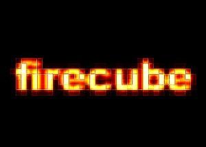 Текст из горящих кубов
